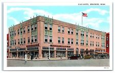 Early 1900s Elks Hotel and Peterson Clothing Store, Brainerd, MN Postcard
