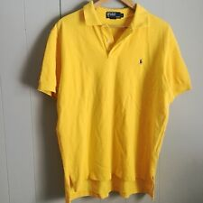 POLO BY RALPH LAUREN Classic Fit Mesh Polo Shirt L Yellow