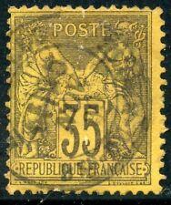 STAMP / TIMBRE DE FRANCE OBLITERE AU TYPE SAGE N° 93 COTE 50 €