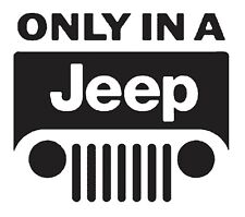 Only in a Jeep t-shirt  NOS  S.M.L or XL 0486