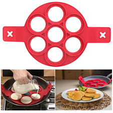 Non Stick Pancake Pan Flip Perfect Breakfast Maker Egg Omelette Flipjack Tools E