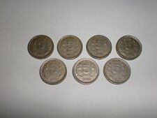 """INDIA COIN LOT OF  7  X """"RS.5"""" OLD  COINS -RARE - THICK & HEAVY- 1992-1999 # 5FY"""