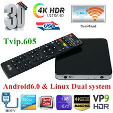 TVIP.605 4K 3D TV Box H2.65 Linux&Android Quad Core Dual WiFi Stalker Streamer