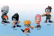 Naruto Mascot Mini Figure 5 Set Sasuke Kakashi Sakura Bandai JAPAN ANIME JUMP
