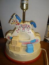 Vintage Fisher Price Nursery Musical Lamp Rocking Horse Nightlight 1984 Baby
