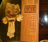MASKS OF BALI First Edition 1992 Full-Color Photographs Slattum/Schraub