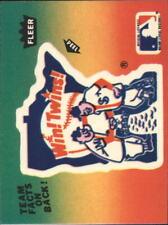 1983 Fleer Team Stickers #34 Minn Twins Logo Red Yellow Green Peel upside down