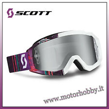 OCCHIALE MASCHERA CROSS ENDURO SCOTT MX HUSTLE PIXEL PURPLE WHITE CHROME