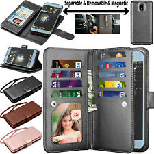 For Samsung Galaxy J7 Star/Crown/Aura Flip Leather Card Wallet Phone Case Cover
