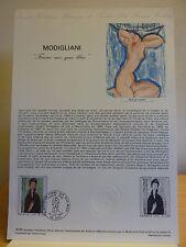 """Document philatélique 1er jour  * MODIGLIANI """"Femme aux yeux bleus"""""""