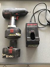 Snap-On 13 mm Impact Wrench Cordless Rattle Gun, Batteries and Charger. Used