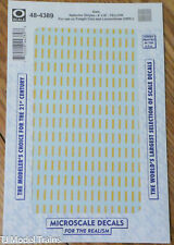 Microscale Decal O #48-4389 Data Reflector Stripes-Yellow(Freight Cars & Locos)