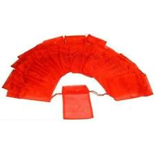 48 Red Organza Drawstring Jewelry Pouches 5