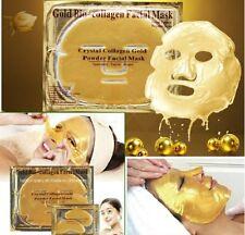 24k Gold Collagen Bio Crystal Mask Face Facial Eye Neck & Lip Anti Ageing Masks