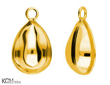 Pendant (bail) for Swarovski 4320 14 mm w 121 - gold-plated silver