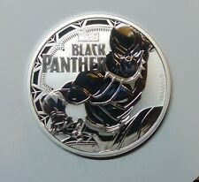 TUVALU : ONE OUNCE SILVER DOLLAR 2018. BLACK PANTHER. MARVEL SERIES