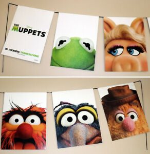 THE MUPPETS__2011 GIANT 10 Ft. Movie BANNER / poster_ Disney_Kermit_Miss Piggy