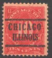 US. J65. 10c. Due Stamp. Precanceled. Chicago, IL. 1917