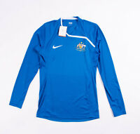 Nike Mens Long Sleeve Australia Blue Soccer Training Top / Jersey. Size Medium