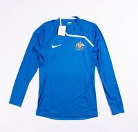 Nike Mens Long Sleeve Australia Blue Soccer Training Top / Jersey. Size Medium