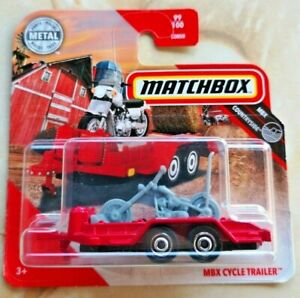 🚓 2020 MBX Matchbox 99/100 short card COUNTRYSIDE  MBX CYCLE TRAILER