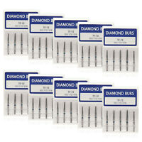 50pcs Dental Diamond Burs Tips FG 1.6mm for Fast High Speed Handpiece TF-13 CE