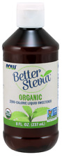 NOW Foods Certified Organic Liquid Stevia Extract 8 oz former Non-Bitter 1/24ex
