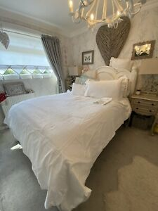 THE WHITE COMPANY Quality Triple Cord Cotton Double Duvet Cover Bedding Set