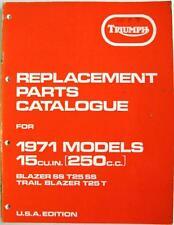 TRIUMPH Blazer SS T25 SS, Trail Blazer T25 T Motorcycle Parts List 1970 US Edit.