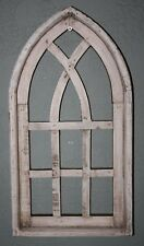 "Wooden Antique Style Church WINDOW Frame Primitive Wood Gothic 18 3/4"" Shabby"