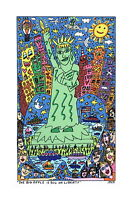 James Rizzi ▪ 3D-Vorlage 1999 ▪ THE BIG APPLE IS BIG ON LIBERTY ▪ betitelt dat.