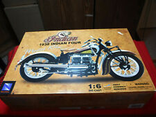 NewRay Indian 1938 Indian Four 1:6 Scale Die Cast Model Kit 49105 Sealed In Box