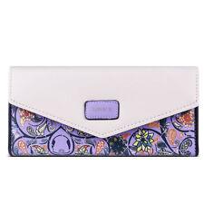 Porte-monnaie et portefeuilles violets organiseur en cuir pour femme