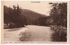 CPA 03 - CHATEAUNEUF LES BAINS (Allier) La Sioule à la Terrasse des Grands Bains