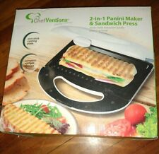 White Nonstick Panini Press And Sandwich Maker New
