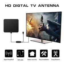 TV Antenna Indoor HD Digital with 80 Miles Long Range Amplifier VHF UHF 33*30cm