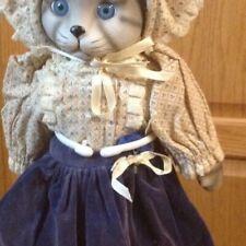 Vintage Globel Art Betty Ball Porcilian Cat Doll Music Box