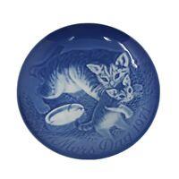 """Bing & Grondahl Mothers Day 6"""" Plate Cat & Kitten 1971 Copenhagen, Denmark #1131"""