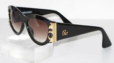 Christian Lacroix Ladies Sunglasses Vintage Black Oversized Brown Gradient Lens