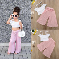 2pcs Newborn Toddler Infant Baby Girl Clothes T-shirt Tops+Long Pant Outfits Set