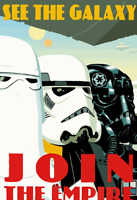 Join The Empire War Style Star Wars Poster Print 8x10 Inch Hologram Stormtrooper