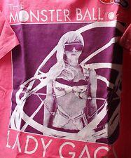 Lady Gaga- Monster Ball Concert 2010 - T-shirt - Ladies size Medium - Pink