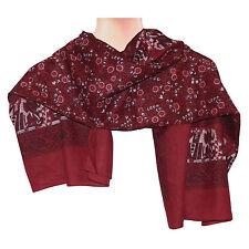 Halstuch Elefanten rot Baumwolle 100 x 100 cm bedruckt Bandana Kopftuch Mode