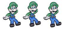 "1"" Tall Set of 3 Pins Super Mario Luigi Character Metal Enamel"