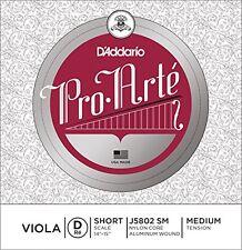 D'Addario Pro-Arte Viola Single D String, Short Scale, Medium Tension