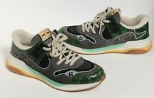 GUCCI Ultrapace Green/Black/White/Multi Snake Mens Low Sneakers US 9.5 / 8.5 G