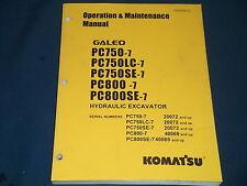 KOMATSU PC750-3 PC750LC-3 PC800-7 SE-7 EXCAVATOR OPERATION & MAINTENANCE MANUAL
