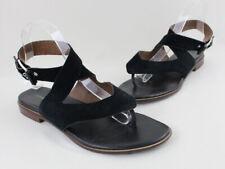 Donald J Pliner Black Suede Strappy Ankle Strap Sandal Size 8.5