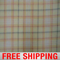 """Maize Plaid Fleece Fabric - 60"""" Wide - Style# PT829 - Free Shipping"""