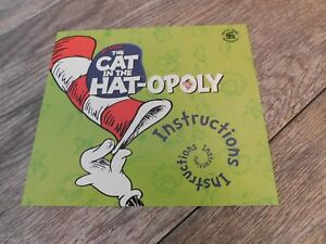 Cat In The Hat-Opoly Monopoly Board Game REPLACEMENT Instructions